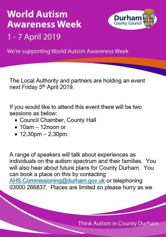 Local authority autism awareness week event – MCT Durham